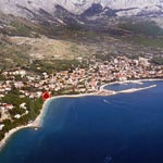 Baska Voda view from air